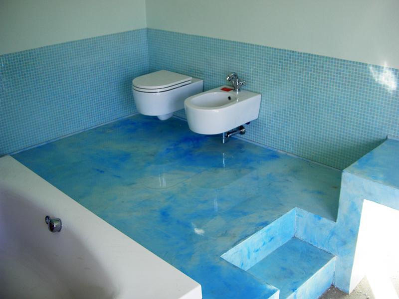 bagno moderno » bagno moderno in resina - galleria foto delle ... - Bagni Moderni Azzurri
